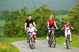 http://www.dreamstime.com/stock-image-family-riding-bicycles-image12224421